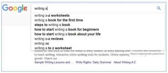 Use Google to find keywords for freelance writing jobs