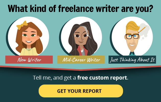 Magazine editors on Twitter: What kind of freelance writer are you? --New Writer? Mid-Career Writer? Just Thinking About Writing? -- Tell me, and get a free custom report! GET YOUR REPORT